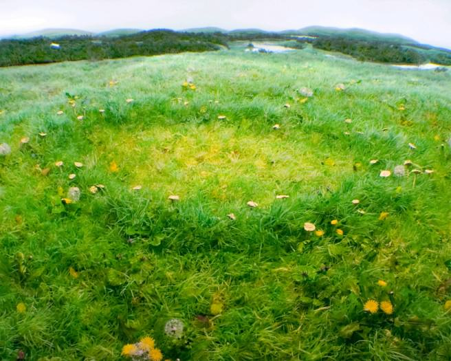 Fairy Ring Dandelions, Diorama by Patrick Jacobs