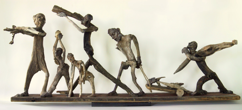 Funeral Procession of Innocents, Sculpture by Susan Clinard
