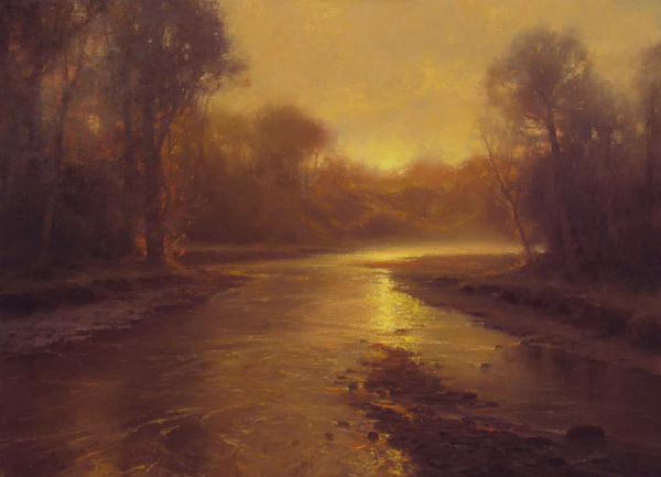 A Gilded Morning, Painting by Brent Cotton