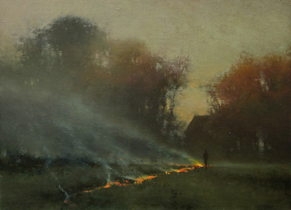 Spring Burning, Painting by Brent Cotton