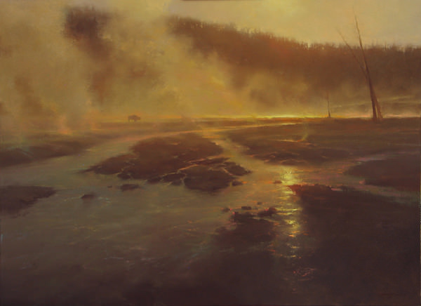 Yellowstone Veil, Painting by Brent Cotton