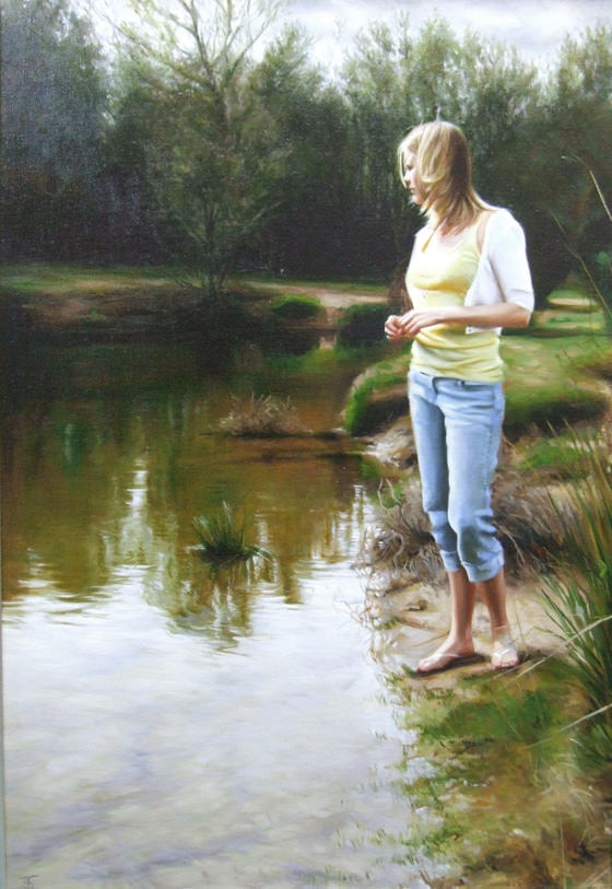 River of Dreams, Painting by Tina Spratt