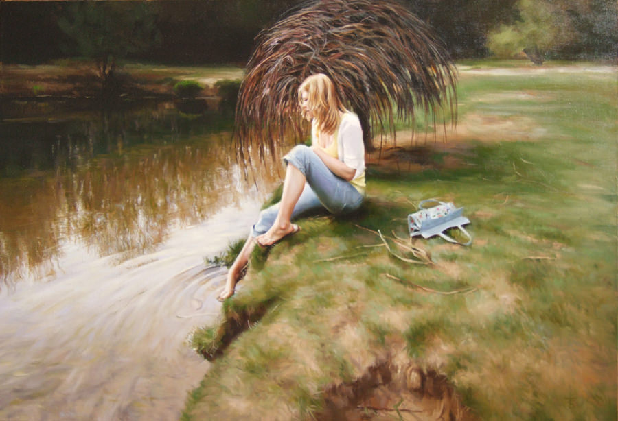 Tranquil Waters, Painting by Tina Spratt