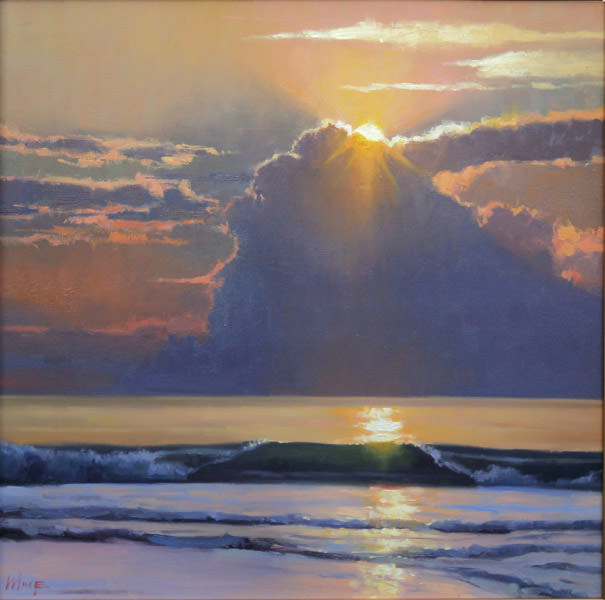 Sunrise Surf, Painting by Larry Moore