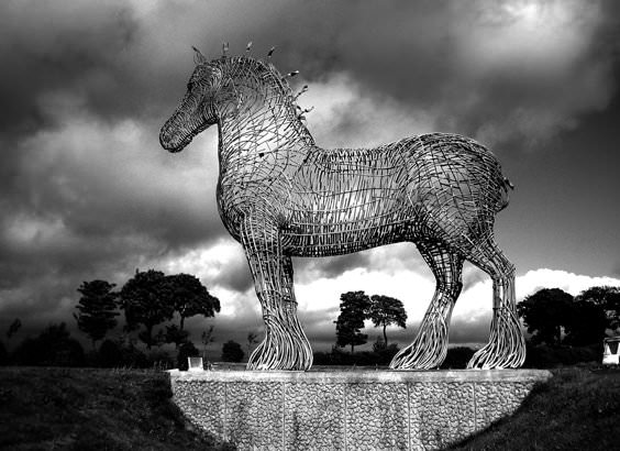The Heavy Horse, Steel Sculpture by Andy Scott