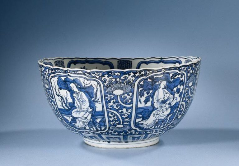 Blue And White Porcelain Bowl Circa 1600 1624
